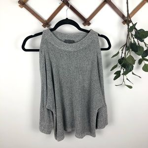 Anthropologie Leo & Sage Cold Shoulder Sweater